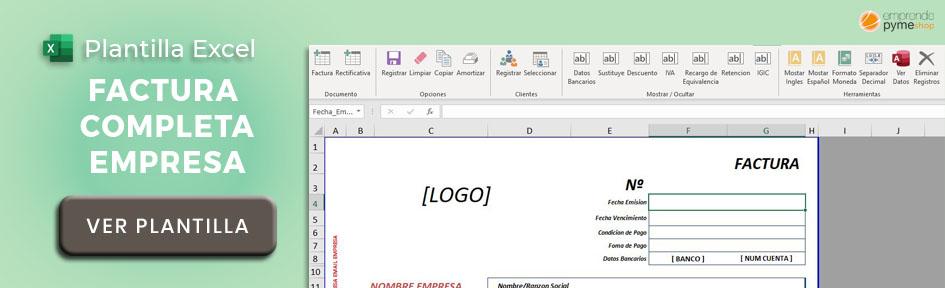 Plantilla Excel para hacer facturas de autónomos