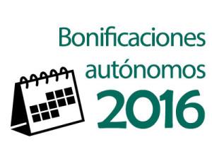 Bonificaciones autónomos 2016