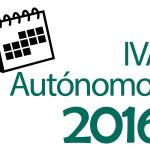 IVA autónomos 2016