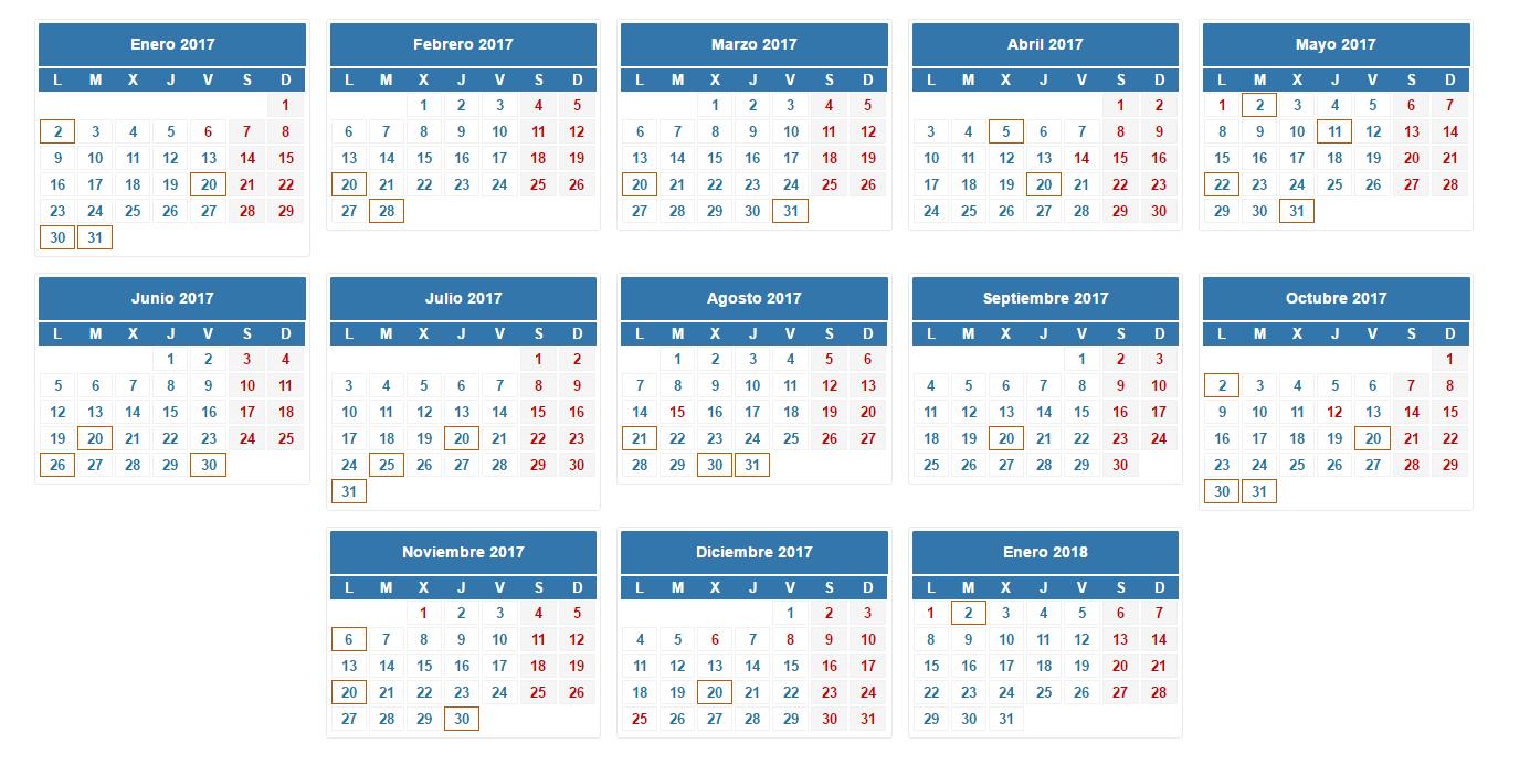 Inicio   Autonomo   Calendario fiscal para autónomos 2017