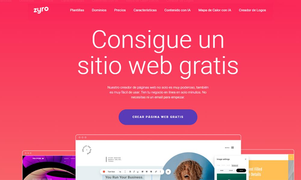 Zyro, una herramienta para crear tu sitio web